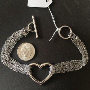 Jewelry - Sterling Silver Heart Bracelet